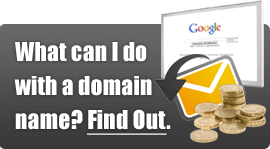 What can I do with a domain name?