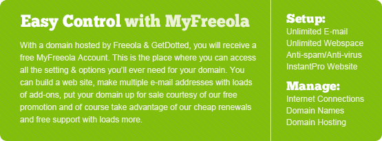 Easy control with MyFreeola