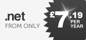 .net domains - only £7.99 per year